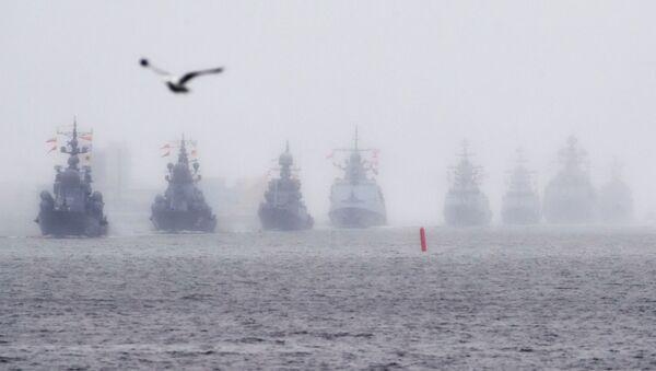 Nácvik přehlídky ruského námořnictva v Kronštadtu - Sputnik Česká republika