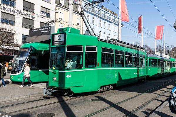 Tramvaj v Basileji, Švýcarsko - Sputnik Česká republika
