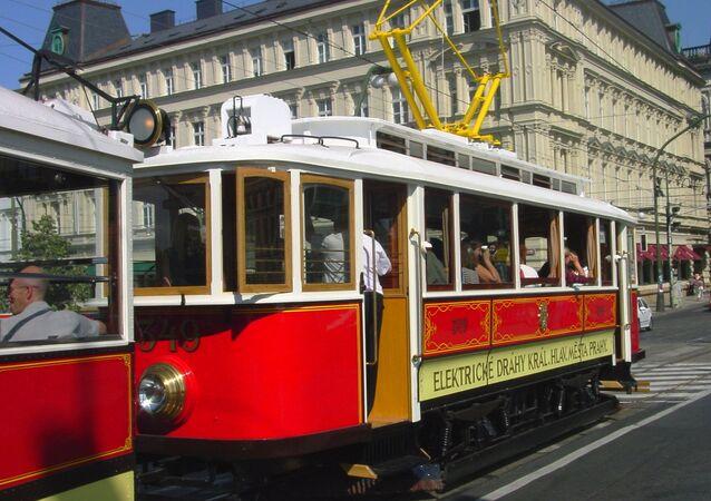 Stará tramvaj v Praze