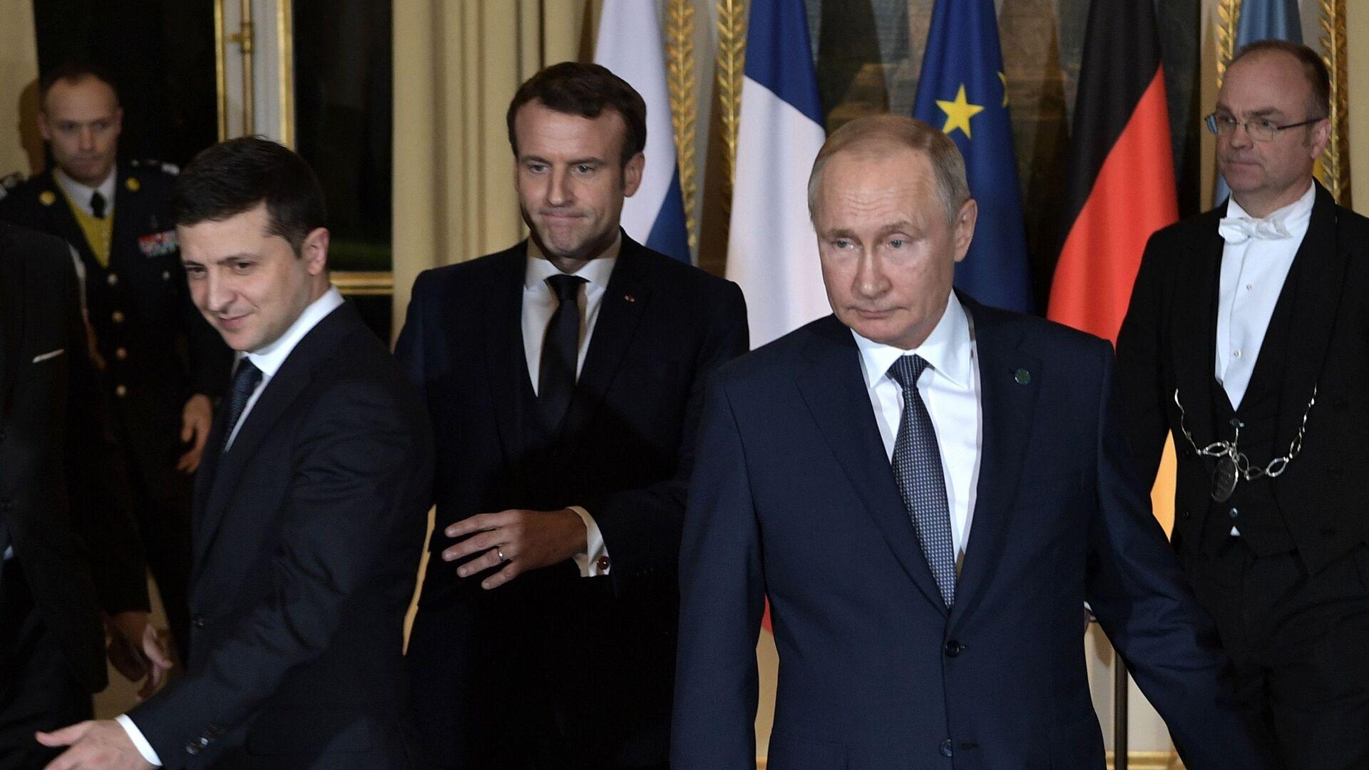 Prezidenti Ruska a Ukrajiny Vladimir Putin a Volodymyr Zelenskyj - Sputnik Česká republika, 1920, 20.04.2021