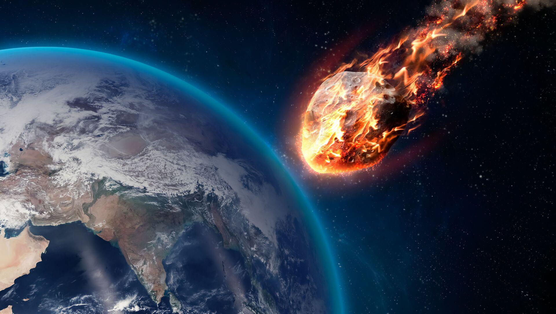Hořící meteorit při průchodu atmosférou Země - Sputnik Česká republika, 1920, 10.03.2021