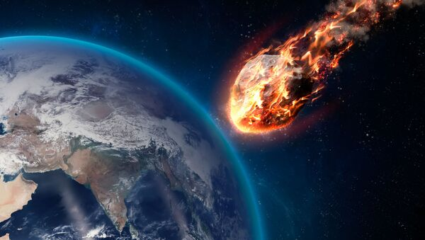 Hořící meteorit při průchodu atmosférou Země - Sputnik Česká republika