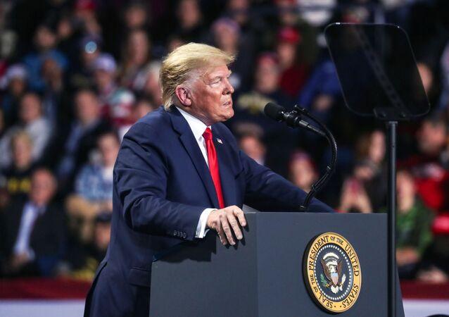 Americký prezident Donald Trump v Michiganu