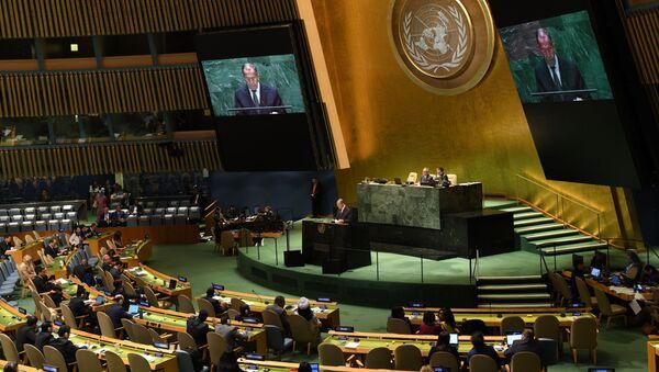 Projev ruského ministra zahraničí Sergeje Lavrova na Valném shromáždění OSN - Sputnik Česká republika