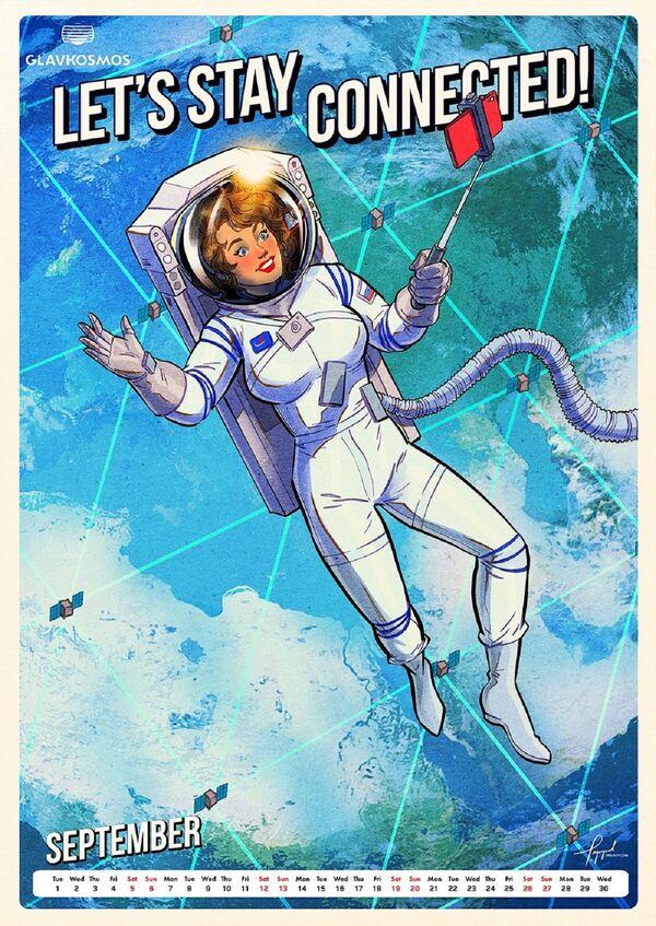 Pin-up kalendář pro Roskosmos: Let's go to space (Vyrazme do vesmíru) - Sputnik Česká republika
