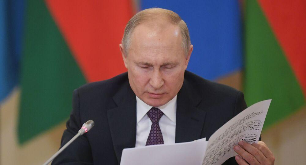 Vladimir Putin na setkání vůdců SNS