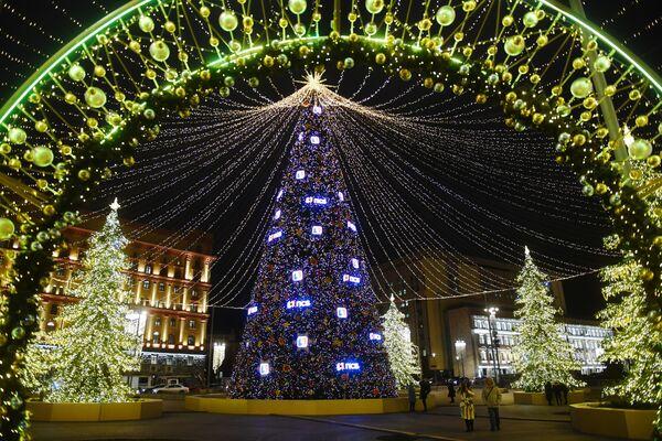 Vánoční iluminace na Lubjanském náměstí - Sputnik Česká republika