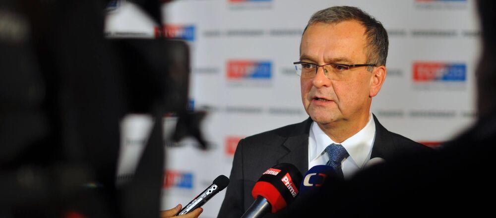 Šéf poslaneckého klubu TOP 09 Miroslav Kalousek