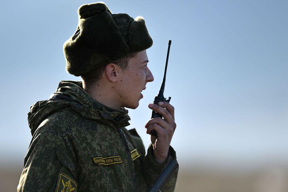 Důstojník pobřežní obrany Černomořské flotily