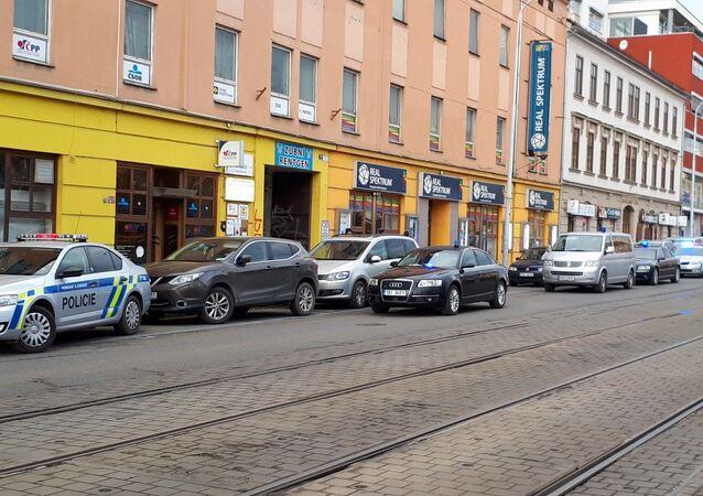 Místo střelby v Brně