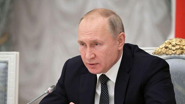 Vladimir Putin na zasedání - Sputnik Česká republika