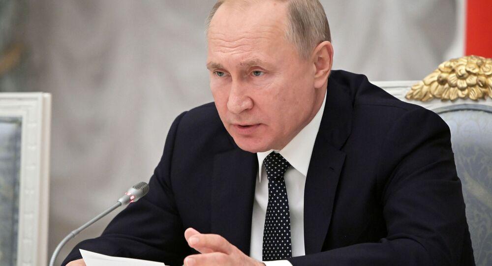 Vladimir Putin na zasedání