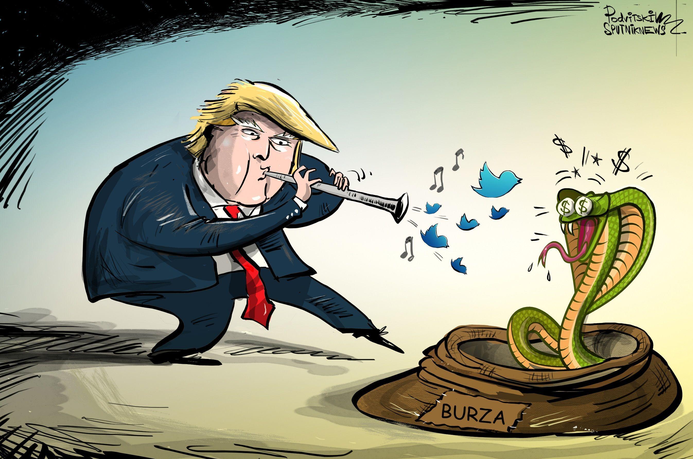 Trumpova slova plodně ovlivňují burzu