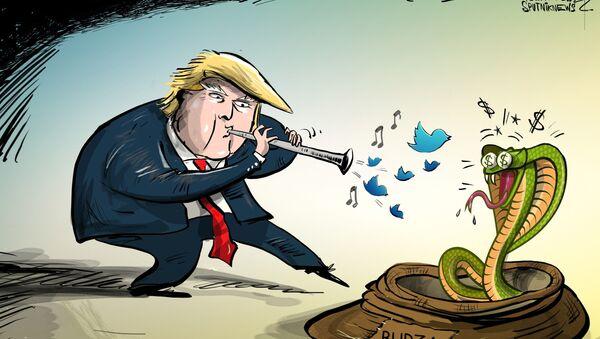 Trumpova slova ovlivňují burzu - Sputnik Česká republika