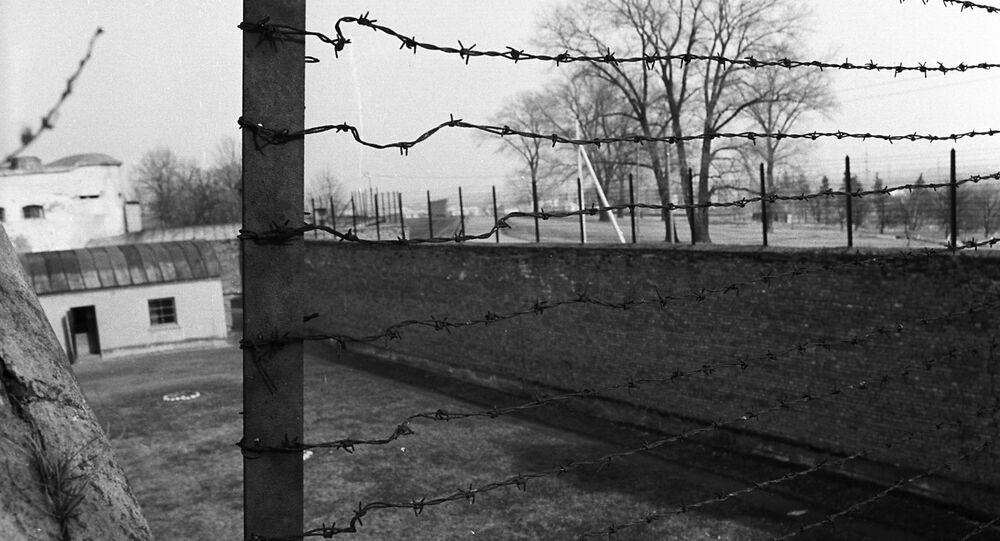 Koncentrační tábor během druhé světové války. Litva