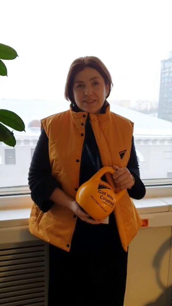 Zástupkyně ředitele agentury Natalja Losevová během akce #SputnikSíla