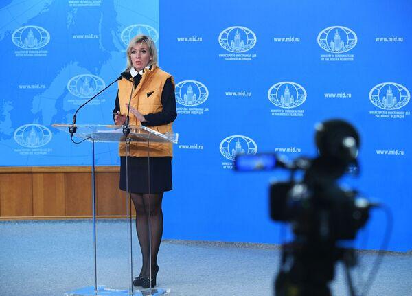Mluvčí ruského MZV Maria Zacharovová během akce #SputnikSíla - Sputnik Česká republika