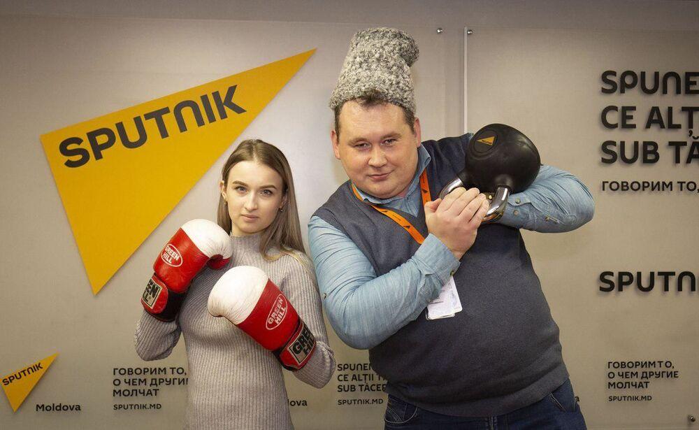 Účastníci akce #SputnikSíla na podporu redakce Sputnik Estonsko