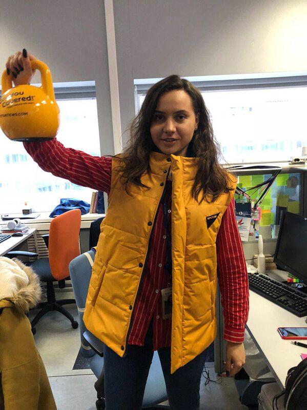 Zaměstnankyně Sputniku během akce #SputnikSíla - Sputnik Česká republika