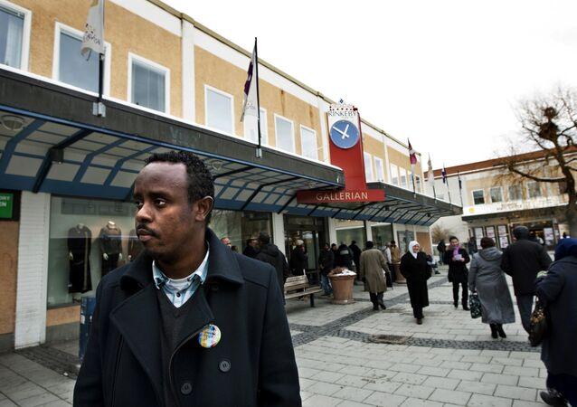 Rinkeby, eine überwiegend von Migranten bewohnter Vorort Stockholms