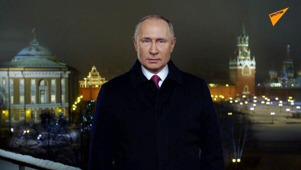Novoroční projev ruského prezidenta Vladimira Putina (2020) - Sputnik Česká republika
