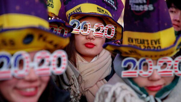 Silvestrovské oslavy na Times Square v New Yorku - Sputnik Česká republika