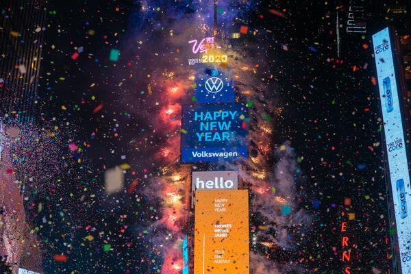 Oslava Nového roku na Times Square v New Yorku - Sputnik Česká republika