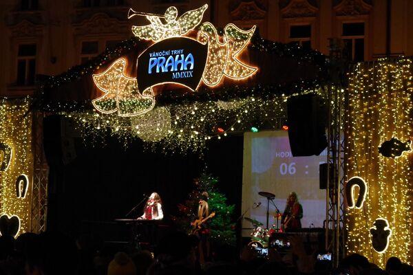 Koncert během silvestrovských oslav v Praze. - Sputnik Česká republika