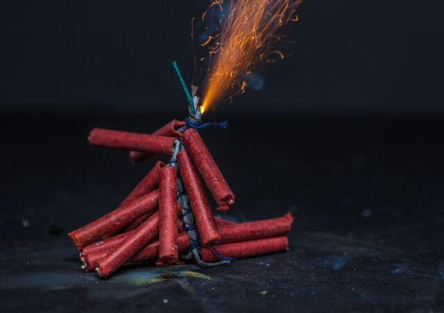 Zábavní pyrotechnika. Ilustrační foto
