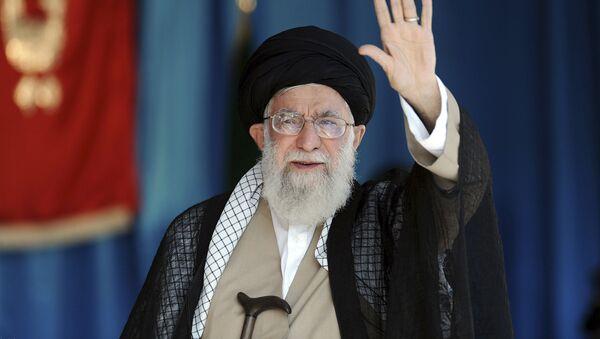 Duchovní vůdce Íránu a hlava státu Sajjid Alí Chameneí  - Sputnik Česká republika