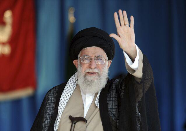 Duchovní vůdce Íránu a hlava státu Sajjid Alí Chameneí