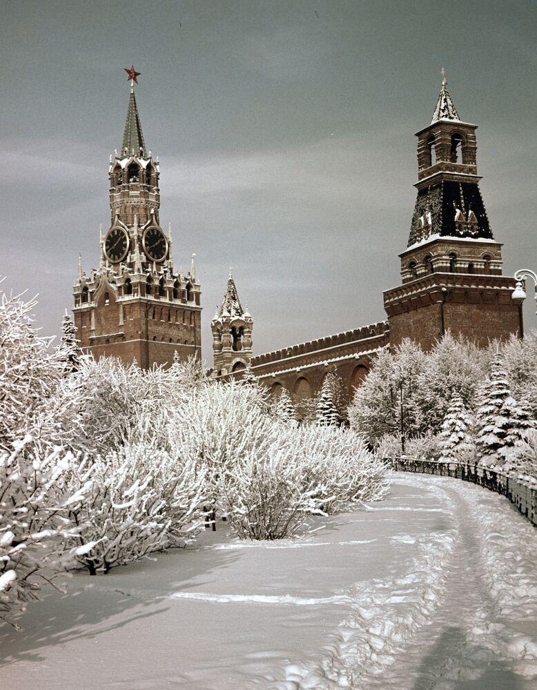 Moskevský Kreml v zimě