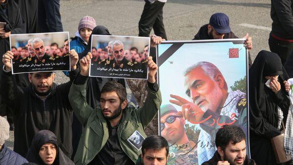Obrázky zavražděného íránského generála Kásima Sulejmáního - Sputnik Česká republika