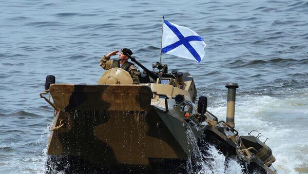 Výsadek námořní pěchoty Tichooceánského loďstva RF. Ilustrační foto - Sputnik Česká republika