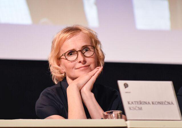 Europoslankyně a místopředsedkyně KSČM Kateřina Konečná