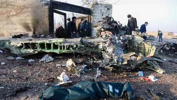 Havárie ukrajínského Boeingu 737, Írán (8. ledna 2020). - Sputnik Česká republika