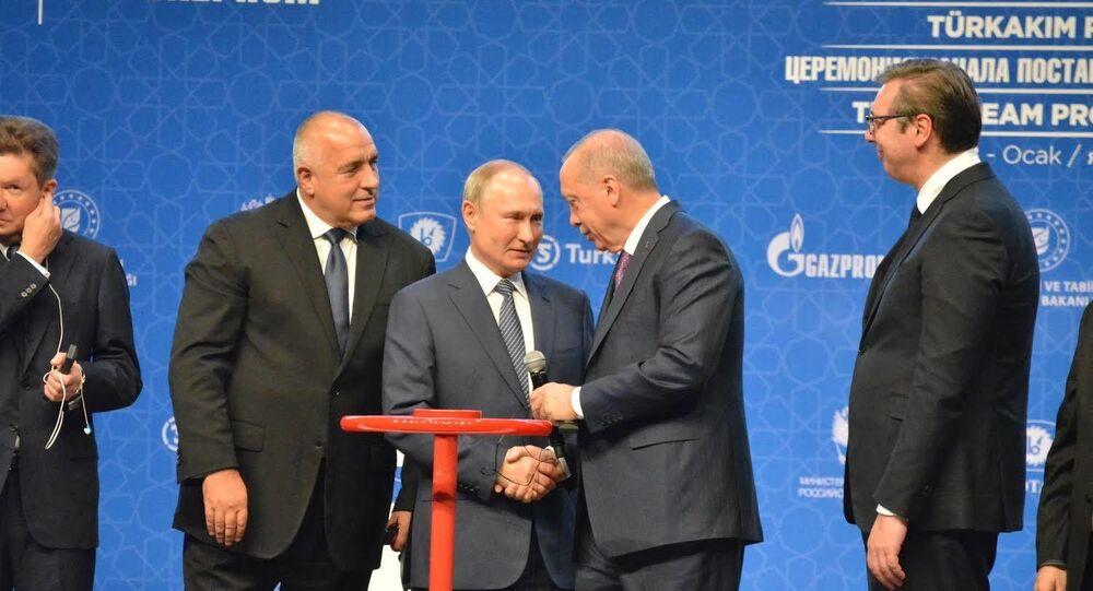 Prezident Ruska Vladimir Putin a prezident Turecka Recep Tayyip Erdogan