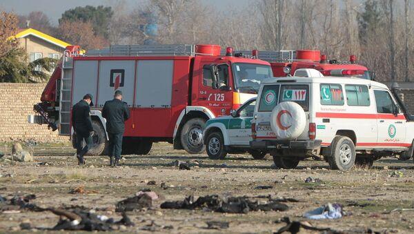 Místo pádu ukrajinského Boeingu 737-800 - Sputnik Česká republika