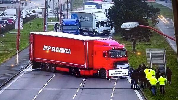 Stávka autodopravců na Slovensku - Sputnik Česká republika