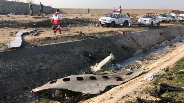 Na místě katastrofy letadla Boeing 737-800 v Íránu - Sputnik Česká republika