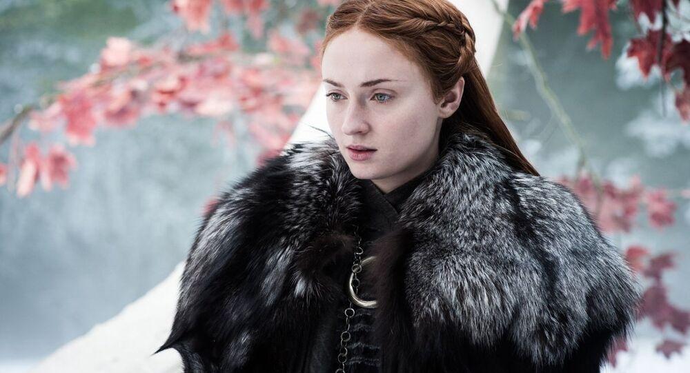Herečka Sophie Turner jako Sansa Stark