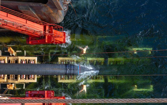 Verlegung der Gasrohre für die Nord Stream 2