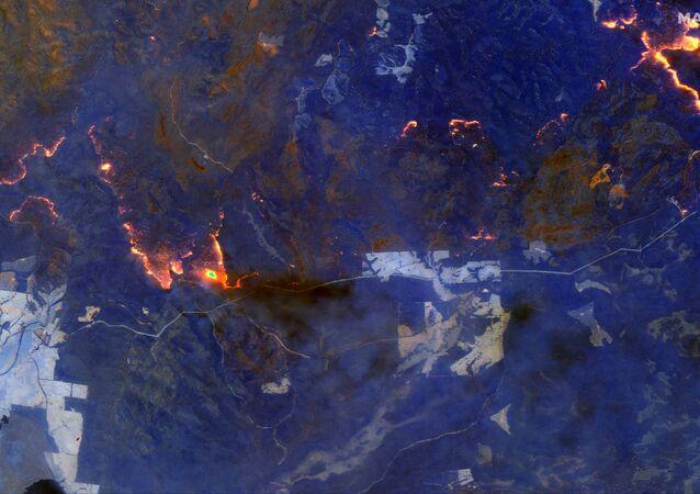 Pohled z vesmíru. Posádka ISS byla zděšena rozsahem požárů v Austrálii