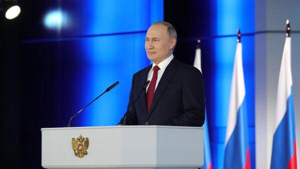Ruský prezident Vladimir Putin vystupuje s každoročním posláním k Federálnímu shromáždění (15. 1. 2020) - Sputnik Česká republika