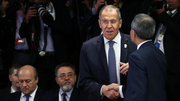Ruský ministr zahraničních věcí Sergej Lavrov na setkání ministrů zahraničí Ruska a ASEAN v Thajsku - Sputnik Česká republika