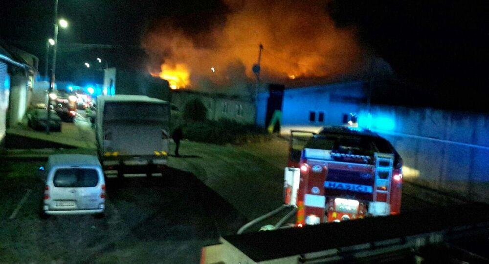 Požár v Holasicích na Brněnsku