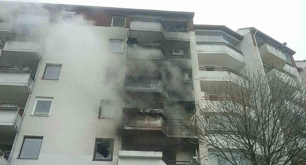 Požár v paneláku v Bratislavě