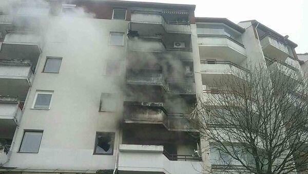 Požár v paneláku v Bratislavě - Sputnik Česká republika