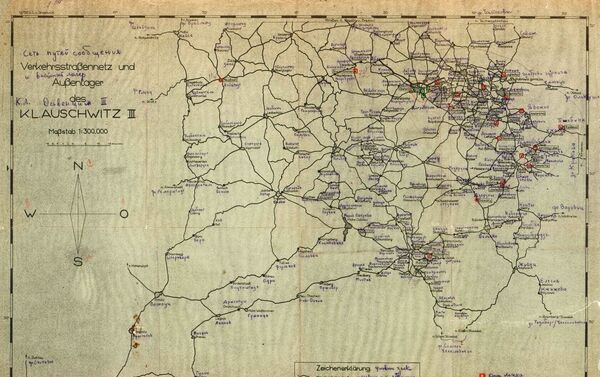 Schéma německé sítě komunikačních linek mezi koncentračními tábory v Polsku - Sputnik Česká republika