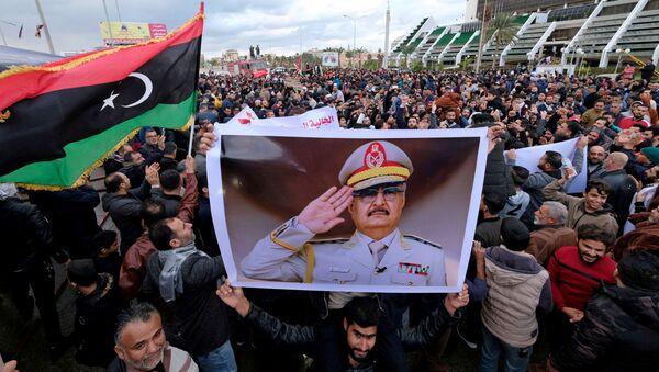 Protesty v Benghází kvůli rozhodnutí tureckého parlamentu ohledně vysílání vojáků do Libye - Sputnik Česká republika